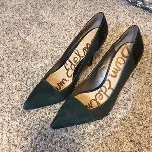 "Sam Edelman ""Desiree"" Point-Toe Hunter Green Pumps"